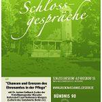 """Einladung zum Bündnisgrünen Schlossgespräch """"Chancen und Grenzen des Ehrenamtes in der Pflege"""""""