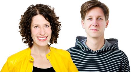 Bettina Jarasch und Daniel Wesener (Landesvorsitzende B90/Grüne)