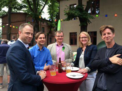 Mario Czaja, MdA und Senator, Stefan Ziller, MdA, Nickel von Neumann, BVV, Lisa Paus, MdB und Daniel Wesener, Landesvorsitzender von Bündnis 90/Die Grünen - Berlin.