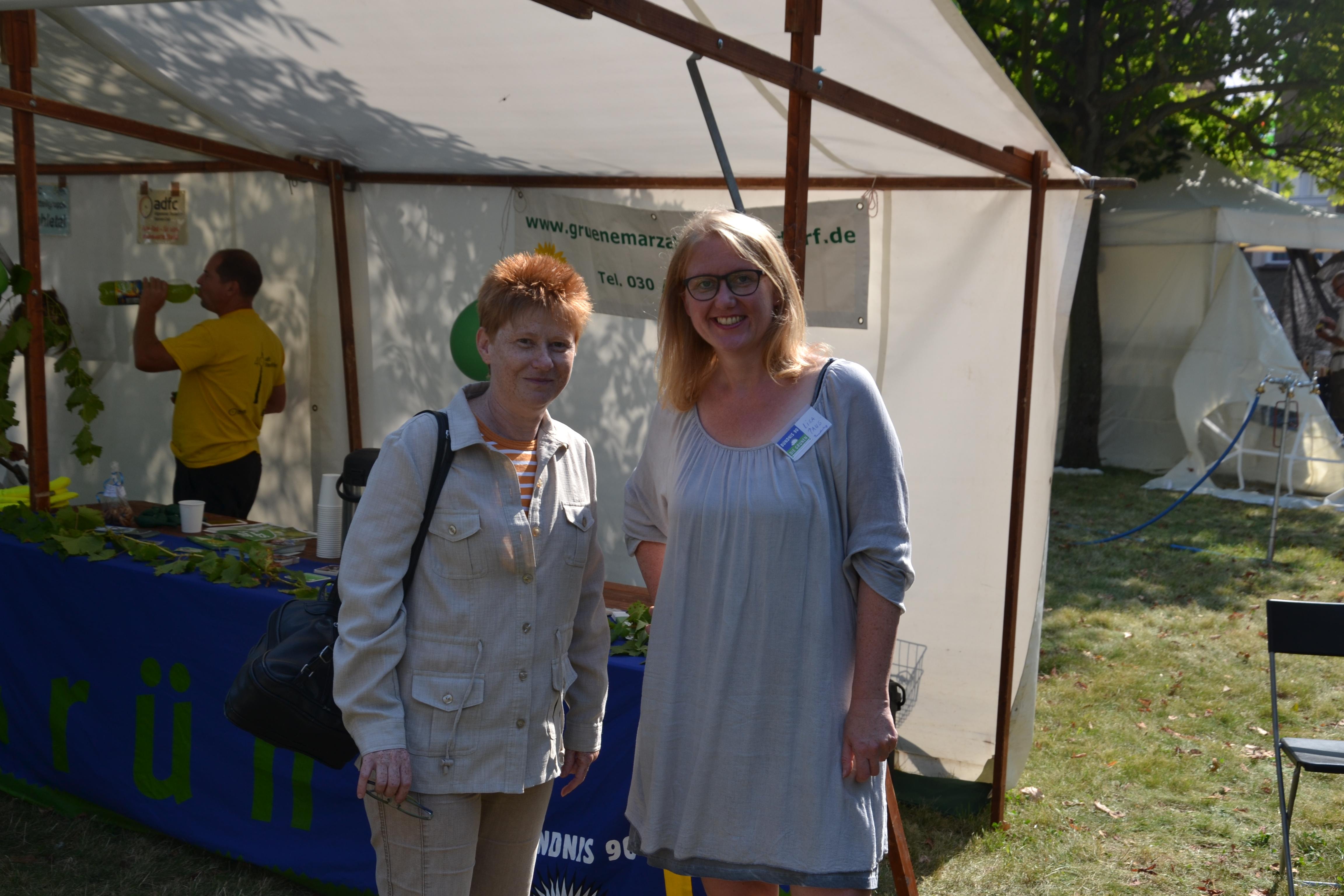 Lisa Paus, MdB und Petra Pau, Vizepräsidentin des deutschen Bundestages