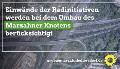 Umbau des Marzahner Knotens - Einwände der Radinitiativen werden berücksichtigt