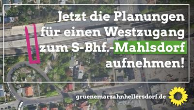 Westzugang S-Mahlsdorf