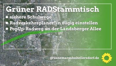 PopUp-Radweg Landsberger Allee