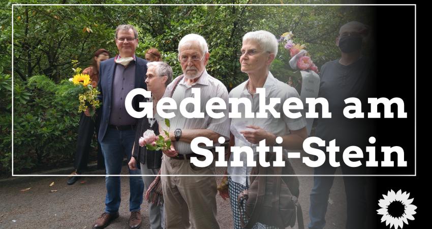 Gedenken am Sinti-Stein