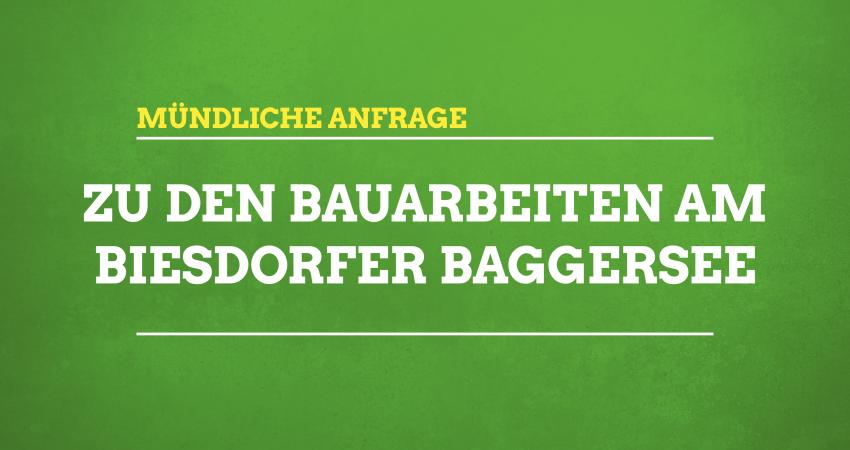 Mündliche Anfrage zum Baggersee